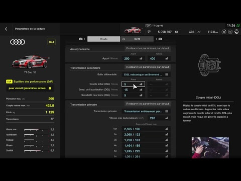 tuto gran turismo sport r glages voitures volant g29 manette by plume d 39 oeuf youtube. Black Bedroom Furniture Sets. Home Design Ideas