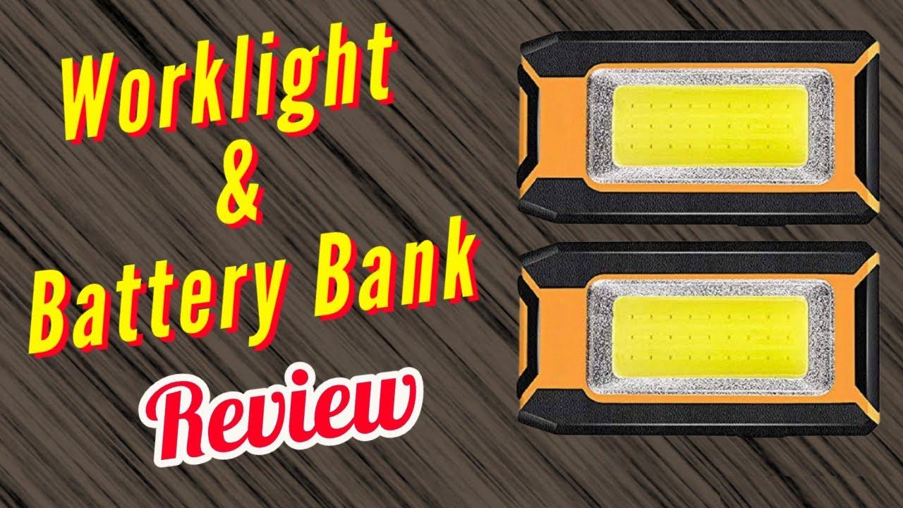 1500 Lumens Compact Work Light Task Light & 3000 mAh Battery Bank 2 Pack Review