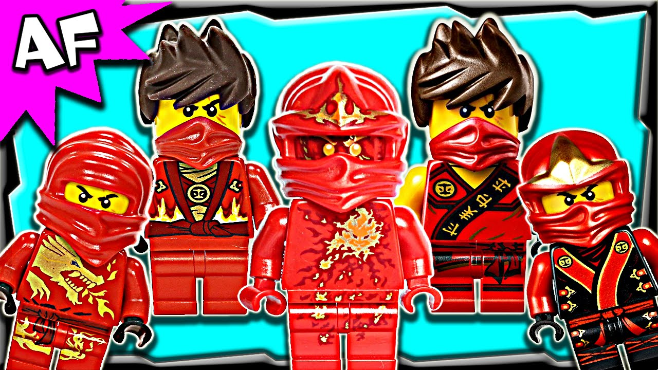 Lego Ninjago Kai RED NINJA Minifigures Complete Collection   YouTube