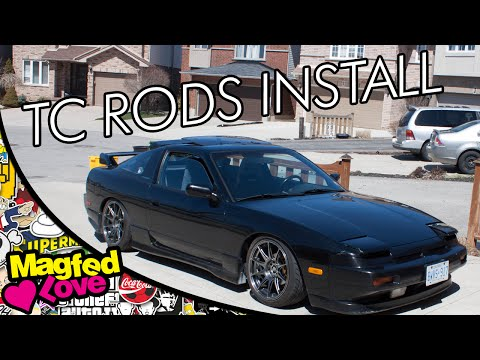 Installing Tein Front Tension Control Rods on my 240sx