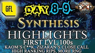 Path of Exile 3.6: SYNTHESIS DAY # 8-9 Highlights FIRST LVL 100s, HIGH RANKING RIPS, RNG