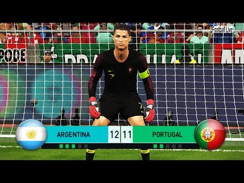 PES 2018 | goalkeeper L.MESSI vs goalkeeper C.RONALDO | Penalty Shootout | Argentina vs Portugal