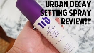 Review: Urban Decay All Nighter Makeup Setting Spray!