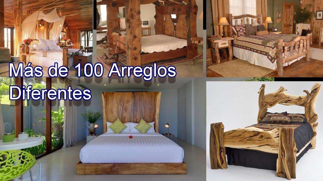 Recamaras con arreglos y acabados rusticos fabricados con for Recamaras individuales de madera