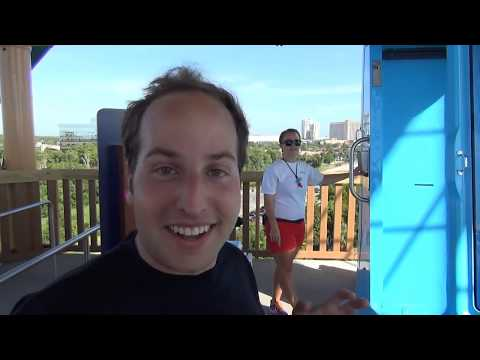 Hilarious Reaction to Ihu's Breakaway Falls Trap Door Water Slide POV Aquatica Orlando