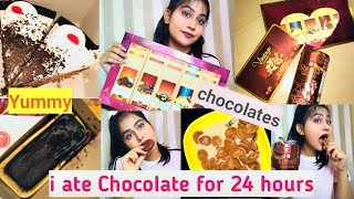 🤢I Only Ate Chocolates For 24 Hours😵 // Trending Food Challenges // Reena tanwar