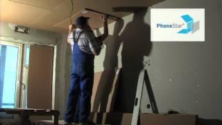 Звукоизоляция Потолок квартиры Немецкие системы PhoneStar(звукоизоляция потолка в квартире Звукоизоляционные панели PhoneStar (ФонСтар) монтаж на ПОТОЛОК подробности..., 2012-09-26T14:40:37.000Z)