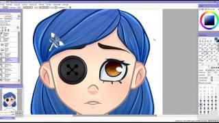 Coraline redraw | SpeedPaint | Paint Tool Sai