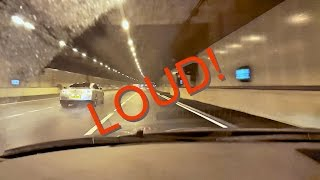 Insane 640HP Nissan GTR Tunnel Sounds: LOUD!