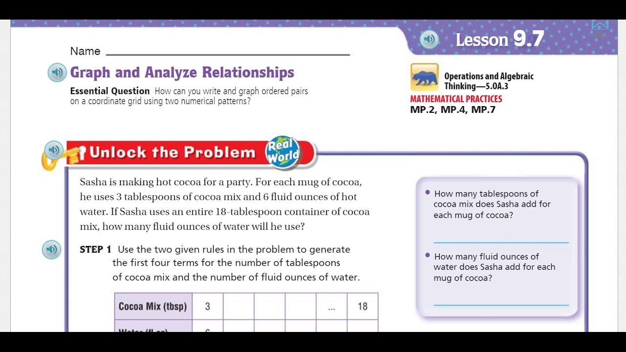 Go Math 5th Grade Lesson 9.7 Graph and Analyze ...