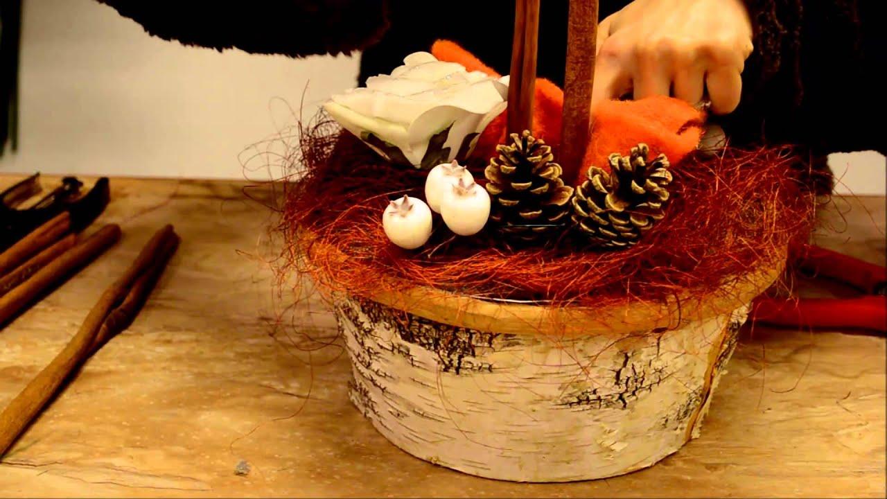 Addobbi natalizi tutorial per centrotavola natalizio fai da te by la bottega del fiore youtube - Portacandele natalizi fai da te ...