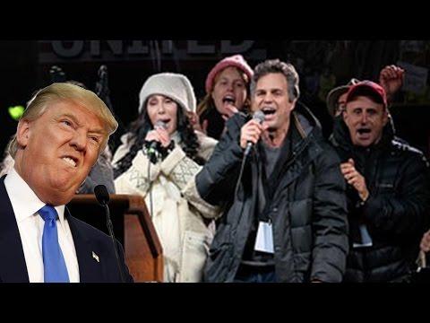 Celebrities Protest Donald Trump's Inauguration