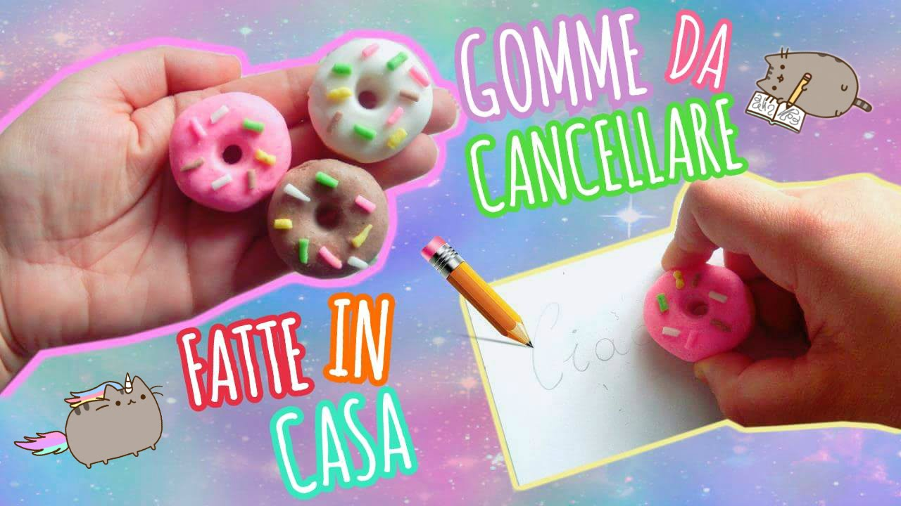 Gomme da cancellare fatte in casa diy kawaii erasers for Cose fatte in casa