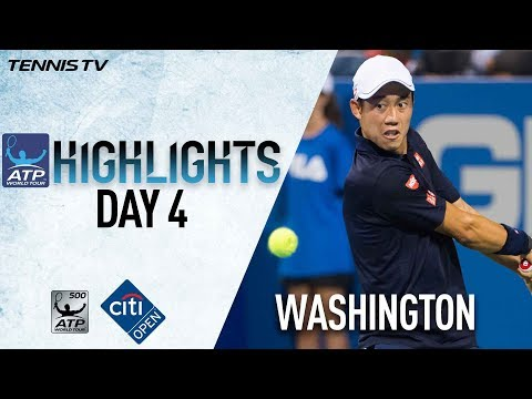Highlights: Nishikori, Anderson Win At Washington 2017 Thursday
