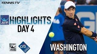 Highlights: Nishikori, Anderson Win At Washington 2017 Thursday