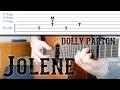 """Jolene"" Guitar Tutorial - Dolly Parton | Easy Fingerpicking + Strumming + Intro"