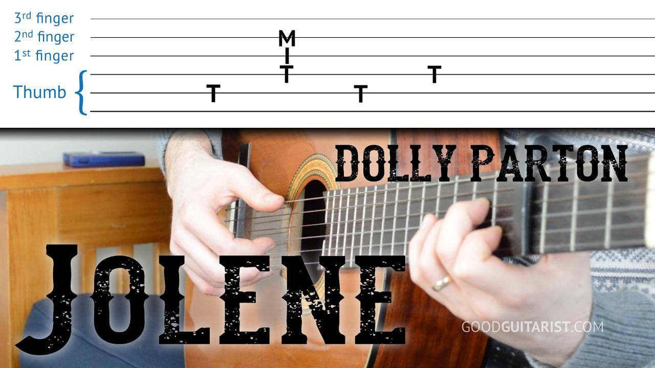 Jolene Guitar Tutorial Dolly Parton Easy Fingerpicking
