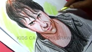 How to Draw WWE Superstar DEAN AMBROSE Color Drawing