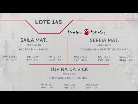 LOTE 145 Maratona Matinha