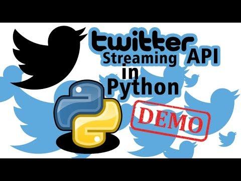 Twitter Streaming API In Python. Data Mining Demonstration