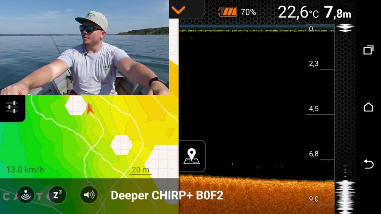 für iOS /& Android Deeper CHIRP+ WIFI GPS Smart Sonar mit CHIRP