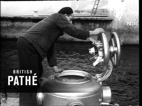 """Italian Midget Submarine  """"C3"""" (1948)"""