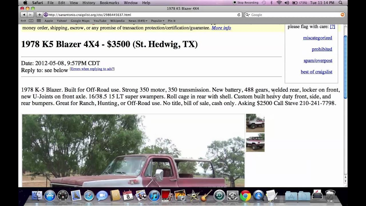 Craigs List San Antonio Examples And Forms