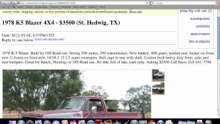 Craigslist San Antonio Used Cars And Trucks - Prices Under $4000 Available In 2012