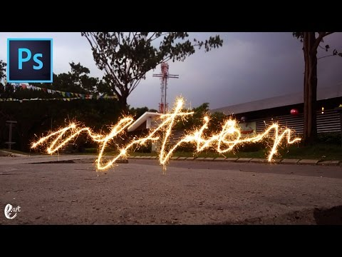 Action : Sparkler Firework - Tutorial Photoshop || PSD FILE DOWNLOAD