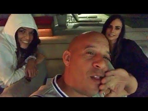 Fast Family get together   Michelle Rodriguez, Vin Diesel and Jordana Brewster