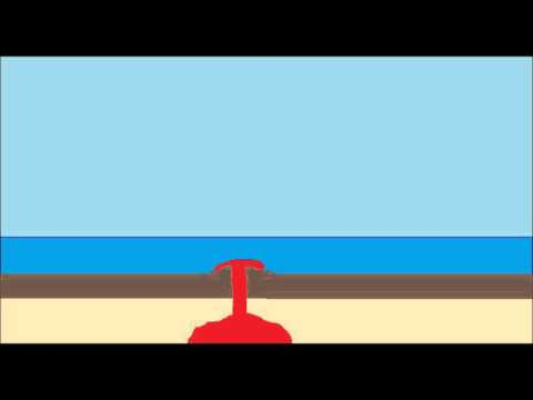 Volcanic Island Formation, an Animation.