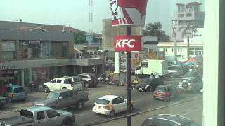 KFC. The Colonel in Accra, Ghana