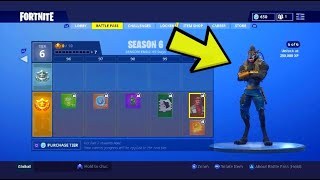 FORTNITE SEASON 6 BATTLE PASS SHOWCASE! ALL NEW SKINS, MUSIC, EMOTES, PETS!
