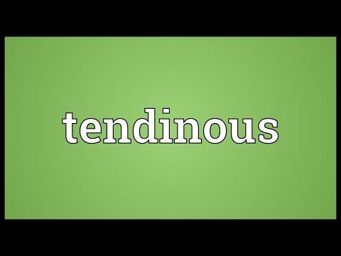 Header of tendinous