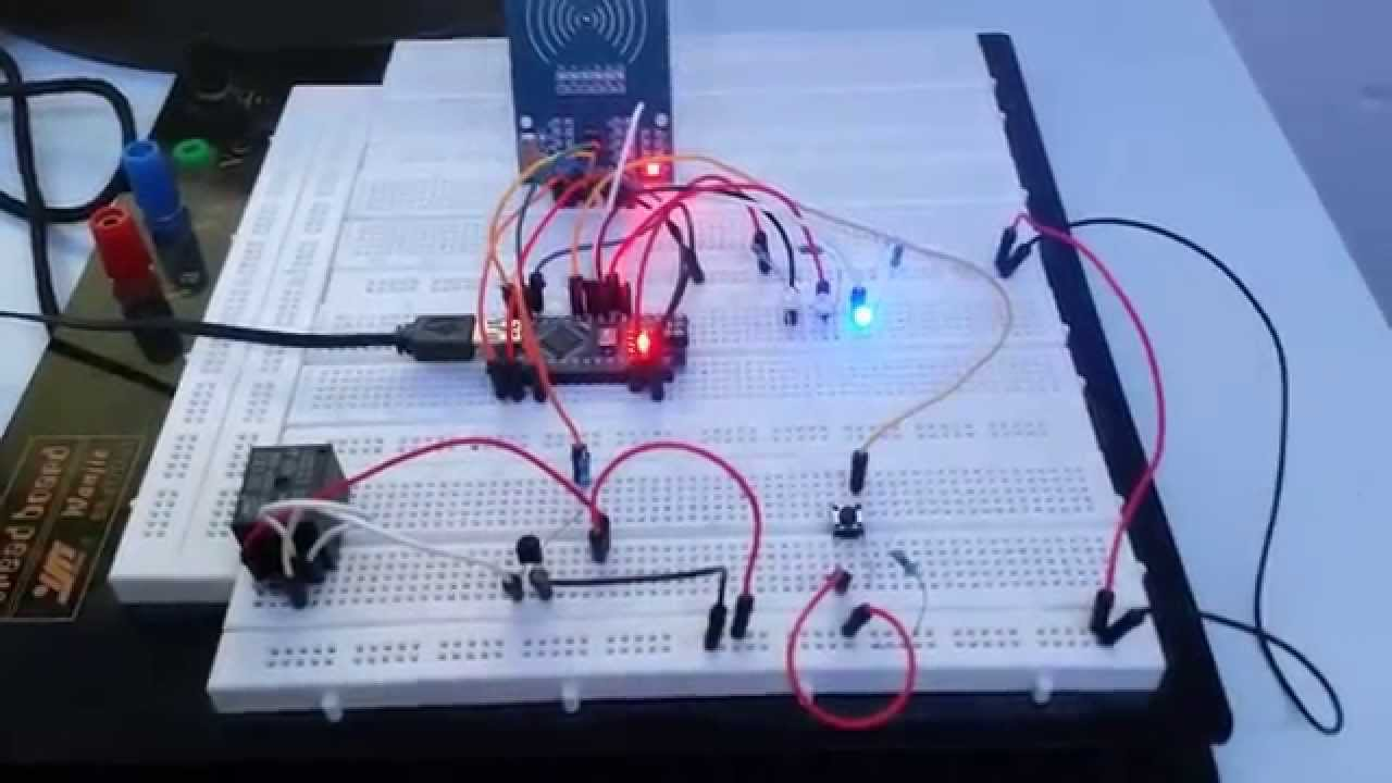 Arduino Simple Rfid Relay Door Lock Youtube