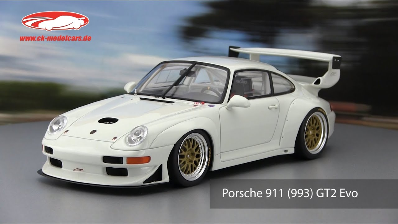 ck modelcars video porsche 911 993 gt2 evo baujahr 1998 wei gt spirit youtube. Black Bedroom Furniture Sets. Home Design Ideas