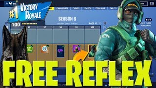 Fortnite Season 8 How To Get FREE REFLEX SKIN! FREE SEASON 8 SKINS to Subscribers LIVE!