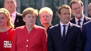 Watch President Donald Trump speak at NATO headquarters