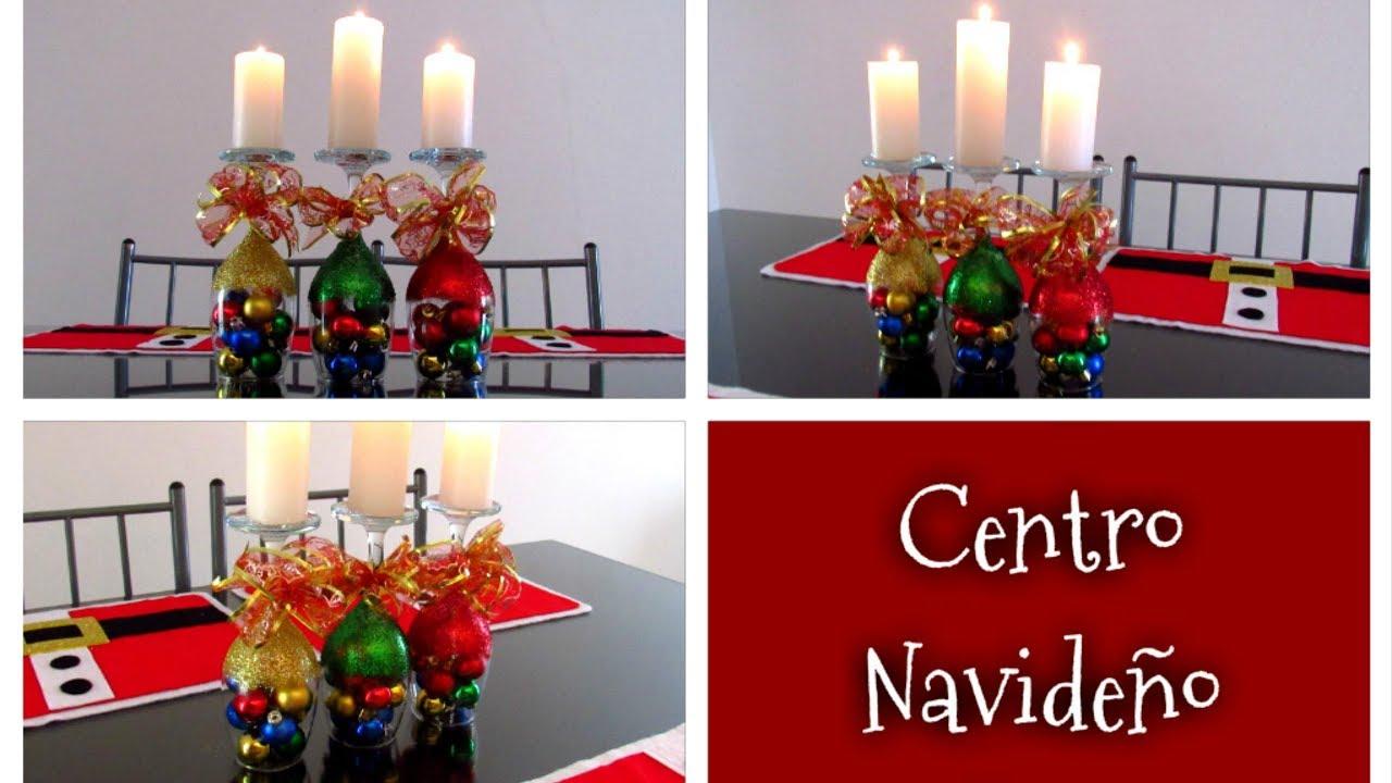 Como hacer un centro de mesa navide o f cil y elegante - Centro de mesa navideno ...