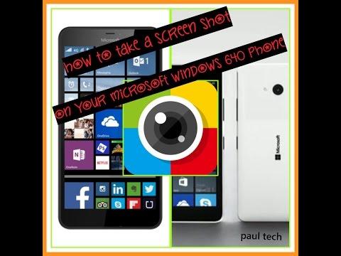 How to take a screen shot Microsoft lumia 640