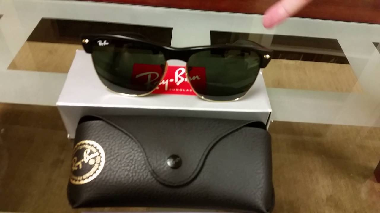 27e811e13f0 My Ray-Ban RB4175 Clubmaster Oversized Sunglasses Review - YouTube