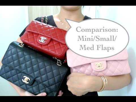 Mini, Small, M/L Chanel flap bag comparison