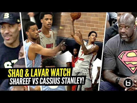 Shaq & Lavar Watch Shareef O'Neal vs Cassius Stanley GO AT IT at Drew League!!! CRAZY HYPE GAME!!