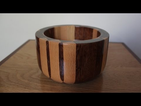 Minecraft Bowl  Real Wood  Woodturning Video