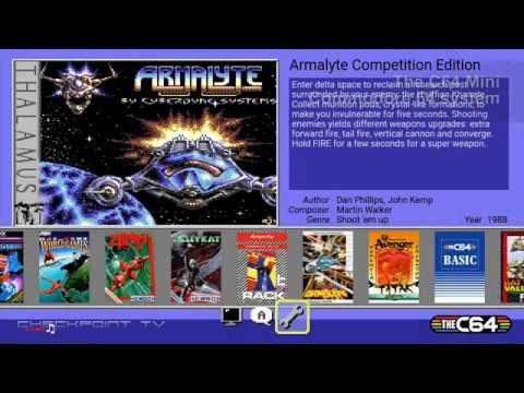 The C64 Mini #04 Games Sampler 45 mins of random gaming 60 FPS