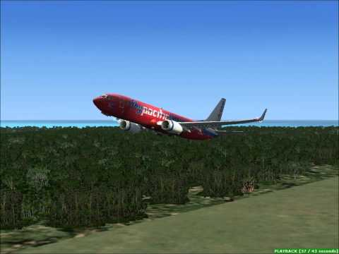 fsx pacific blue nuku'alofa to sydney