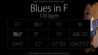F blues (Jazz/Swing feel) 170 bpm : Backing Track