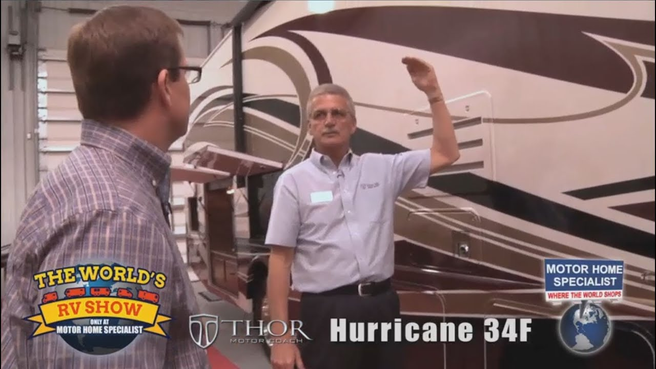 Motor Home Specialist Review of Thor Hurricane RV at The World's RV Show  MHSRV com