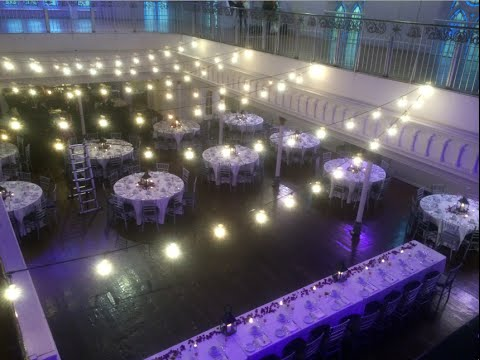 create the perfect ambience with wedding string lights rental