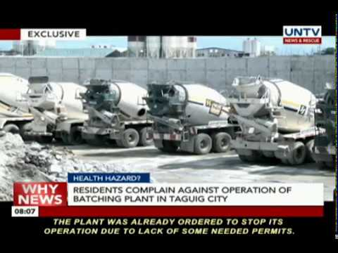 Residents complain against operation of batching plant in Taguig City